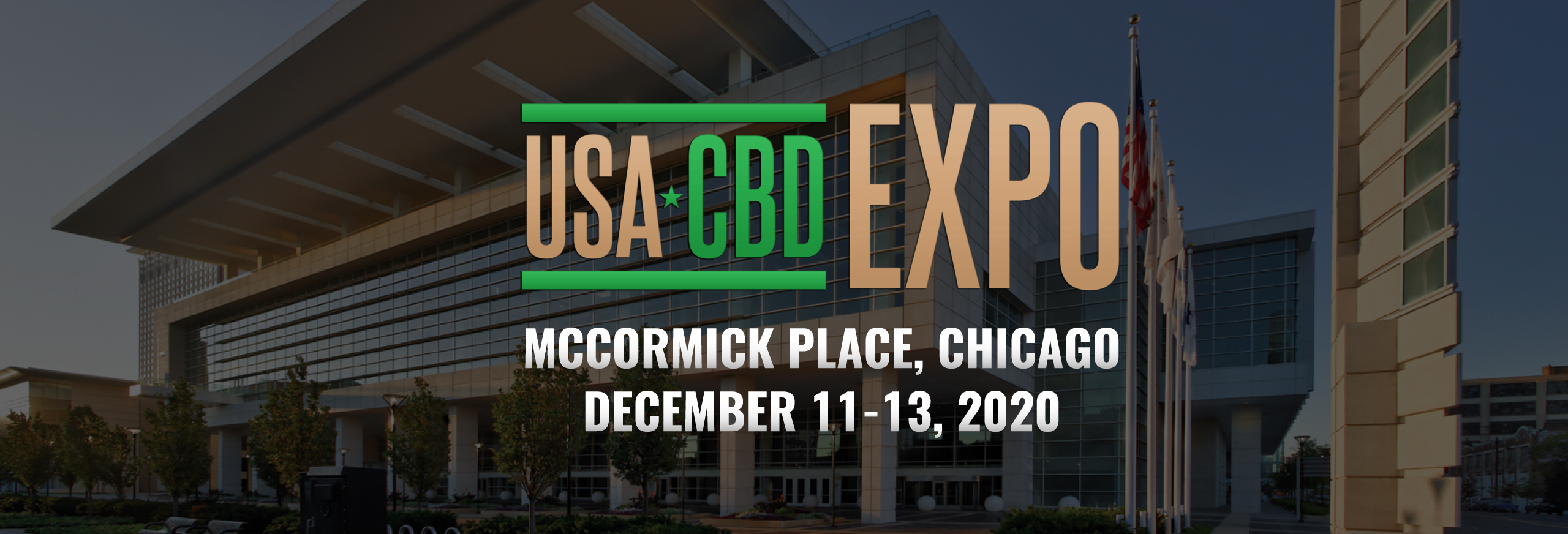 advertising banner for USA CBA EXPO Chicago 2020