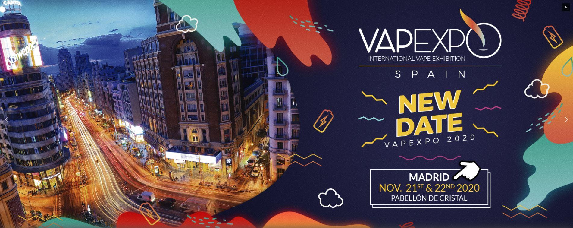advertising banner for Vapexpo International Vape Exhibition Spain 2020