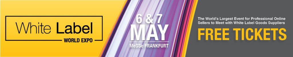 advertising banner for White Label World Expo event