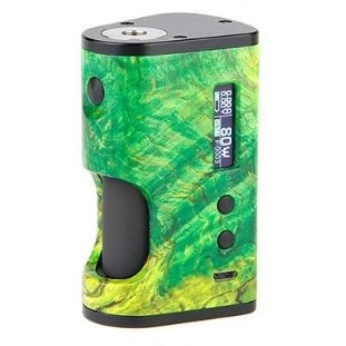 Ultroner x Vapouround Aether 80W Squonker Mod in Green Stab Wood