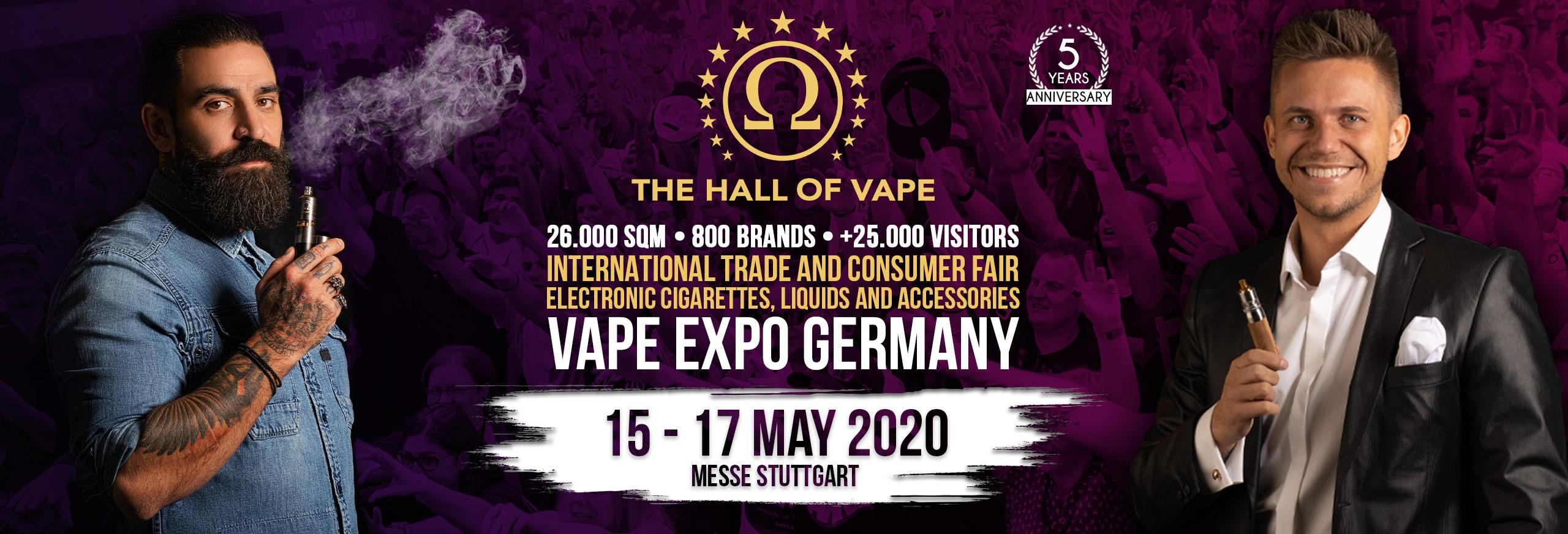 advertising banner for The Hall of Vape Vape Expo Germany 2020