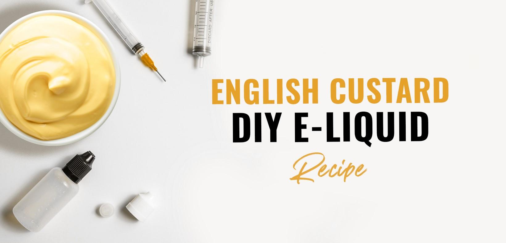 diy english custard vape e-liquid