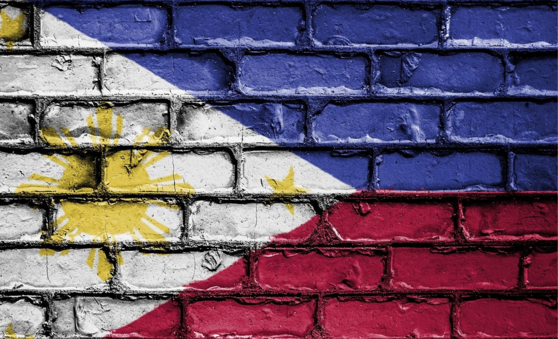 Philippines flag painted on wall