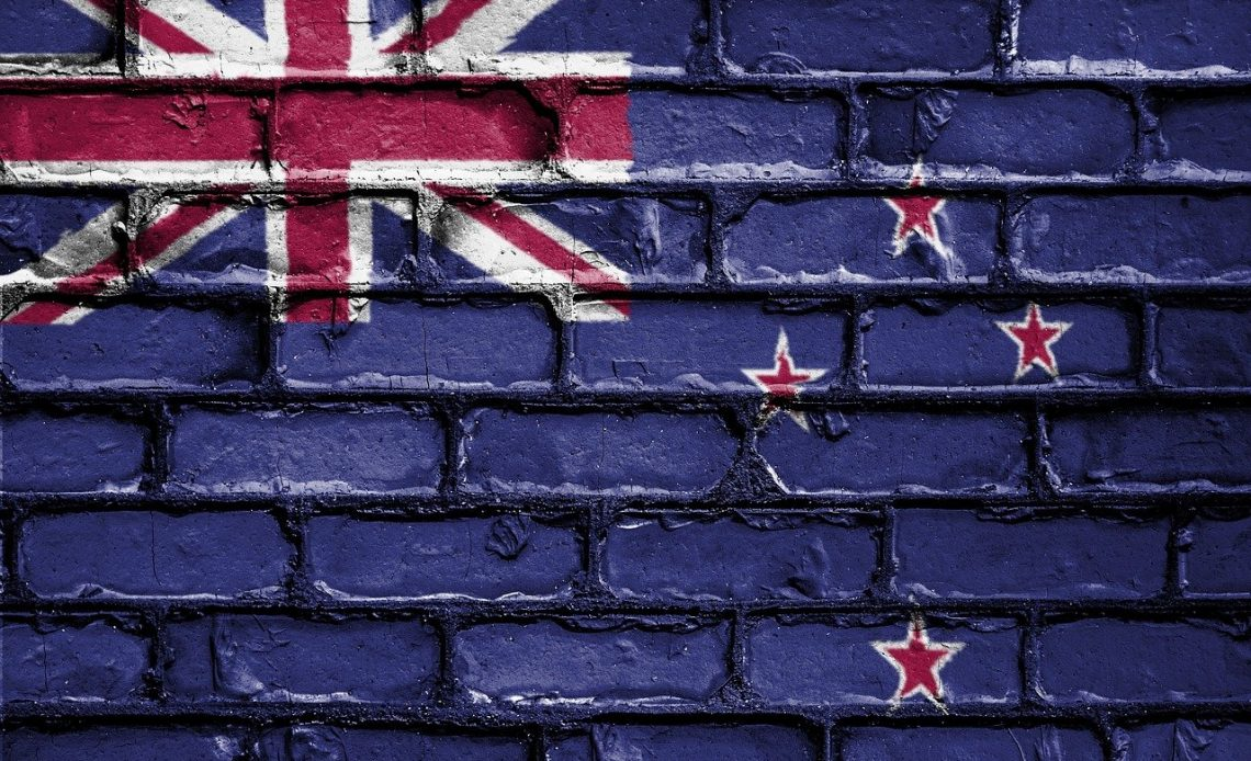 New Zealand flag painted on wall