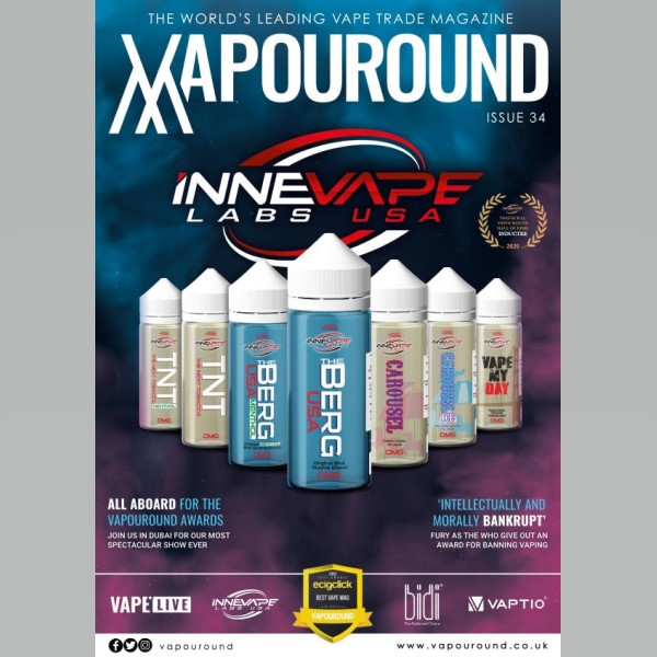 Vapouround Magazine Issue 34 Cover Innevape Labs USA
